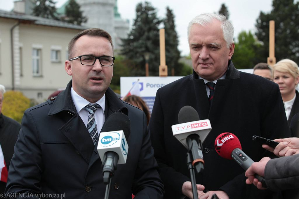 Michał Cieślak i Jarosław Gowin