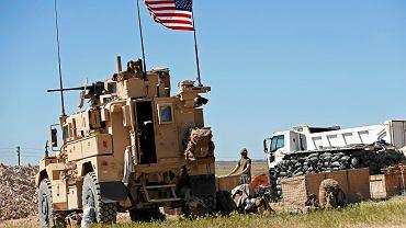 4.04.2018, amerykańscy żołnierze w Manbidż w północnej Syrii.