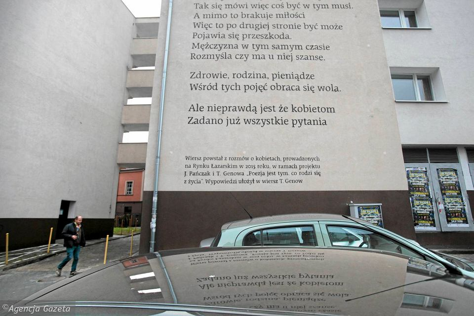 Wiersze Znów Ozdobiły ściany Budynków Tym Razem Na łazarzu