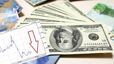 Kurs dolara mocno poleciał w dół