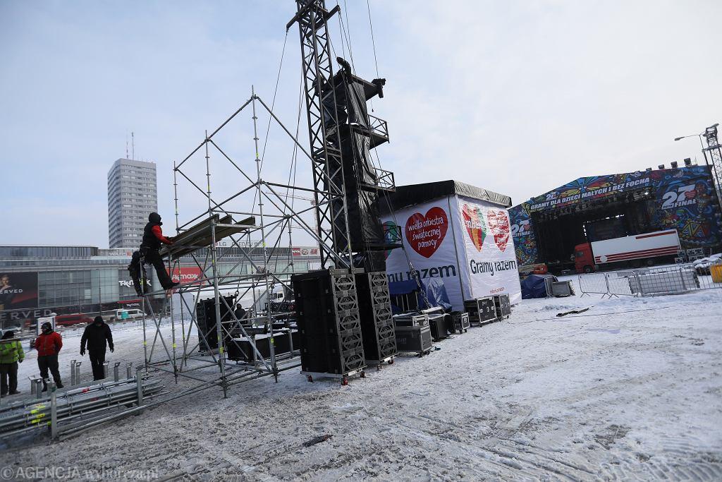 Przygotowania do 27. finału WOŚP w Warszawie