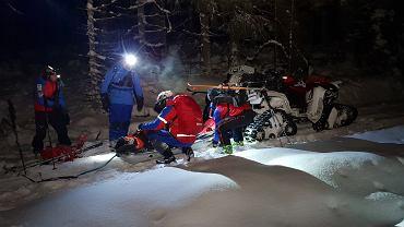 Nocna akcja ratunkowa w Górach Stołowych