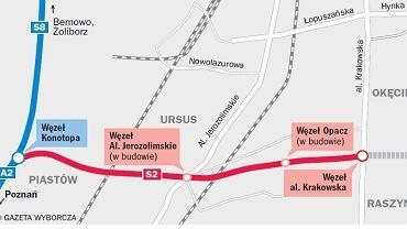 Ten kawałek Południowej Obwodnicy Warszawy jest już otwarty