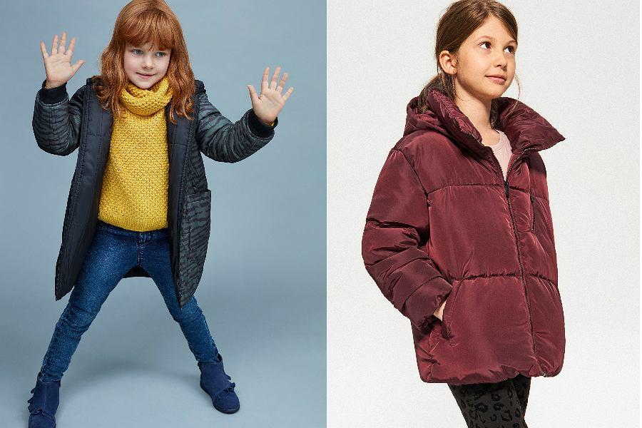 kurtki zimowe dla dzieci z wyprzedaży