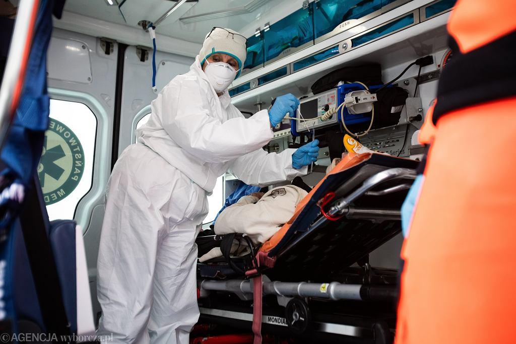 Pandemia koronawirusa. Samodzielny Publiczny Szpital Kliniczny Nr 4, Lublin, 13 stycznia 2021