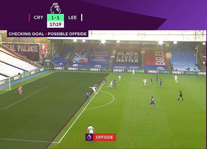 Nieuznany gol Patricka Bamforda z Crystal Palace przez VAR