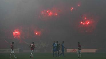 Kibole na meczu Wisła - Lech