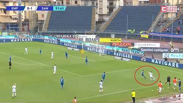 Asysta Bartosza Bereszyńskiego w meczu z Empoli