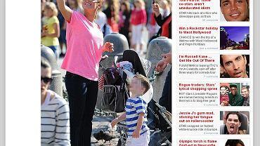 Coleen Rooney na spacerze w Krakowie