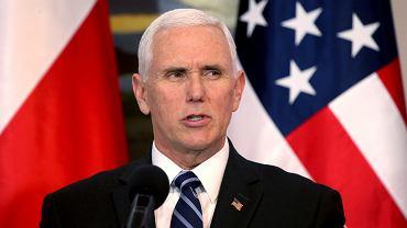 13.02.2019, Warszawa, wiceprezydent USA Mike Pence w Belwederze.