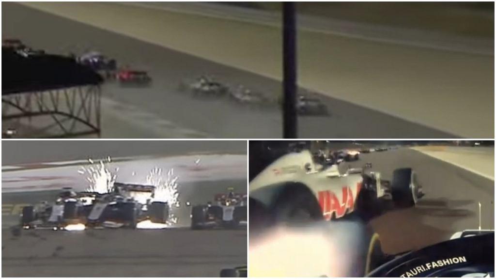 Wypadek Romaina Grosjeana podczas GP Bahrajnu