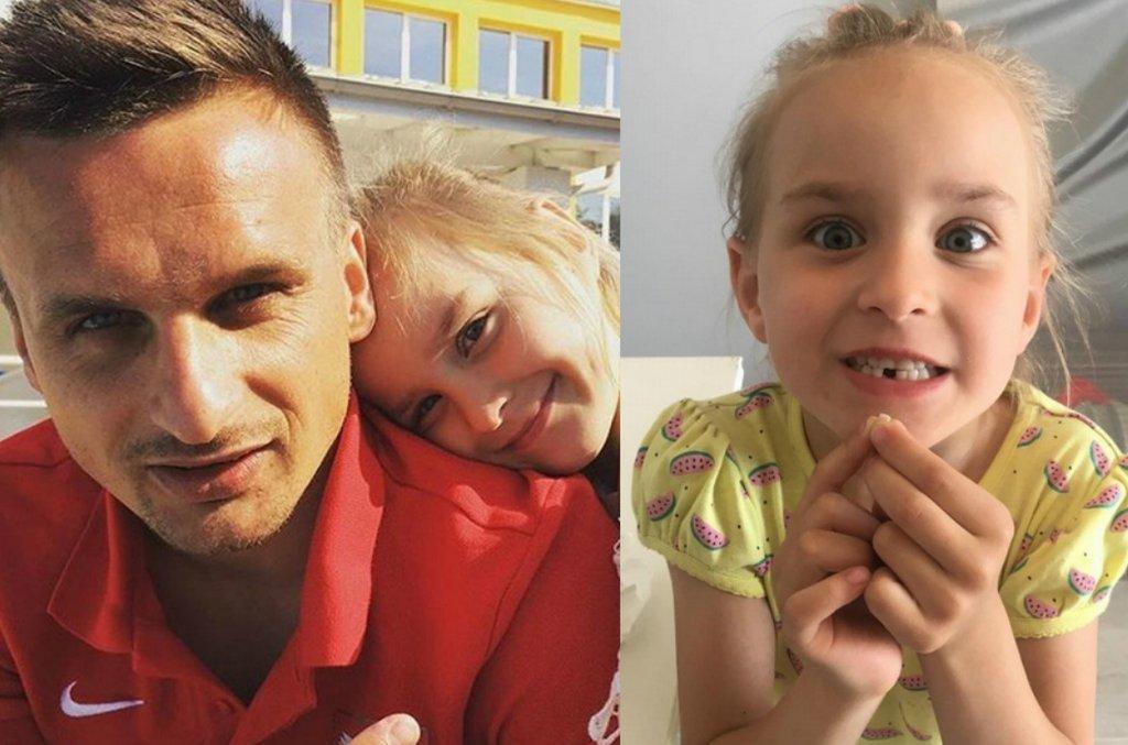 Sławomir Peszko z córką
