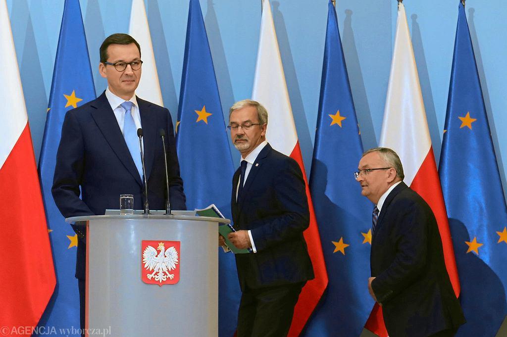 Mateusz Morawiecki, Jerzy Kwieciński, Andrzej Adamczyk
