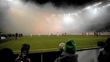 Race odpalone podczas meczu Lechia Gdańsk - Piast Gliwice