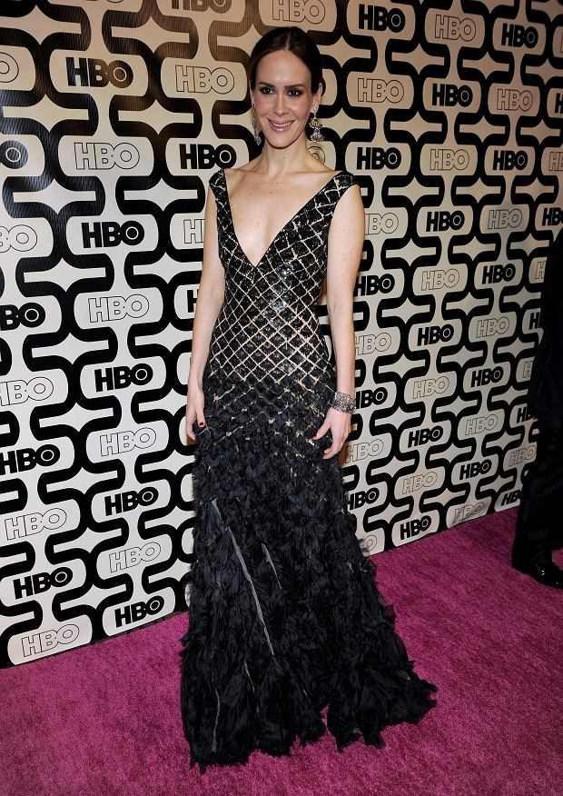 Actress Sarah Paulson arrives at the HBO Golden Globe After Party at the Beverly Hilton Hotel on Sunday Jan. 13, 2013, in Beverly Hills, Calif. (Photo byC hris Pizzello/Invision/AP)