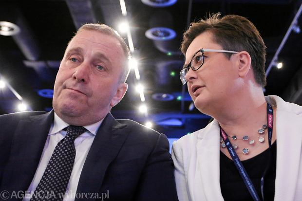 Grzegorz Schetyna i Katarzyna Lubnauer