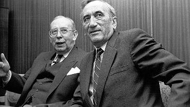 Krzysztof Skubiszewski i Tadeusz Mazowiecki, 1990 rok