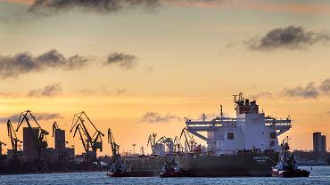 23.01.2020, norweski tankowiec 'Breiviken' wpływa do portu w Kłajpedzie z ładunkiem ropy dla Białorusi.