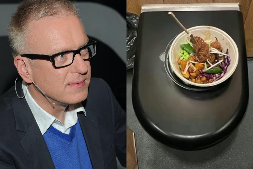 Mariusz Szczygieł musiał zjeść obiad w publicznej toalecie