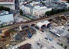 Rośnie estakada kolejowa w centrum Krakowa. Imponujące zdjęcia z drona