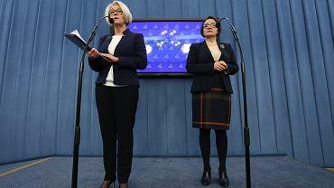 Marzena Machałek i minister Anna Zalewska