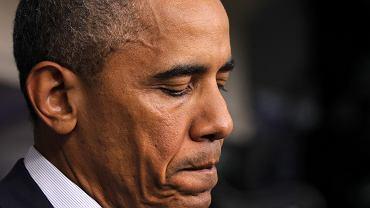 Barack Obama w trakcie przemówienia w Białym Domu, 01.08.14