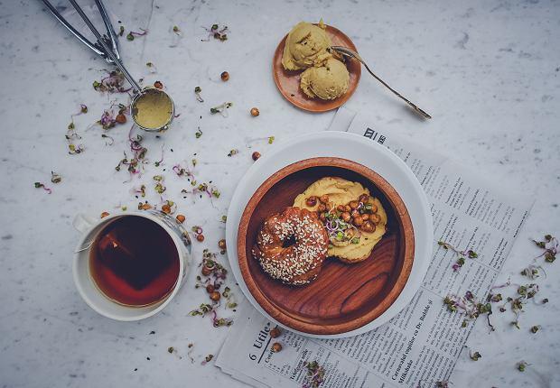 bajgle na śniadanie - propozycja podania