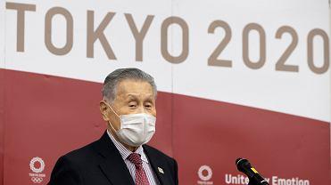 Yoshiro Mori szef komitetu olimpijskiego w Tokio.