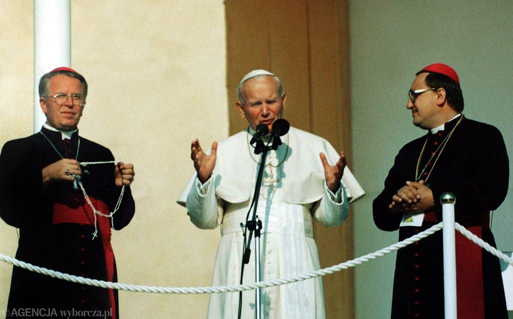 Częstochowa, sierpień 1991. Papież Jan Paweł II na Jasnej Górze w czasie Światowych Dni Młodzieży