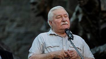 Protesty pod Sądem Najwyższym. Lech Wałęsa