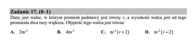 Matura poprawkowa 2016 matematyka, Zad. 17