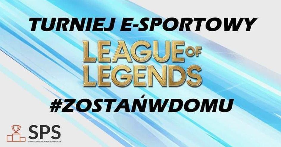 Zdjęcie promujące turniej w League of Legends zorganizowanego przez SPS. Źródło: Facebook, 2020
