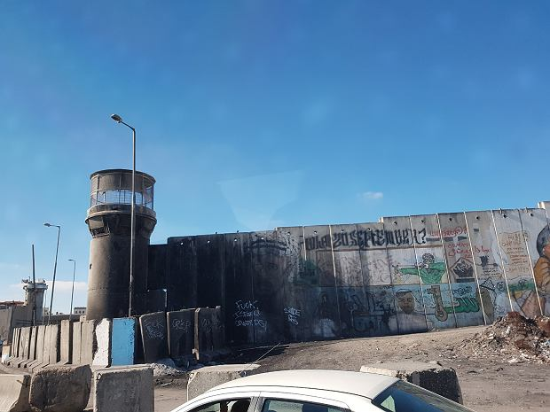 Mur przy checkpoincie Kalandia