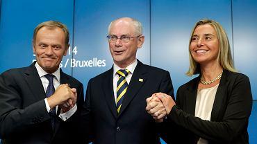 Donlad Tusk, Herman van Rompuy, Federica Mogherini
