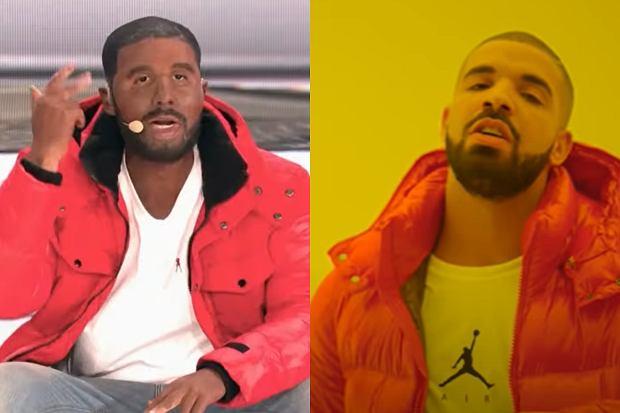 Zestawienie - po lewej Bogumił 'Boogie' Romanowski jako Drake, po prawej Drake