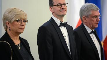 Julia Przyłębska i Mateusz Morawiecki