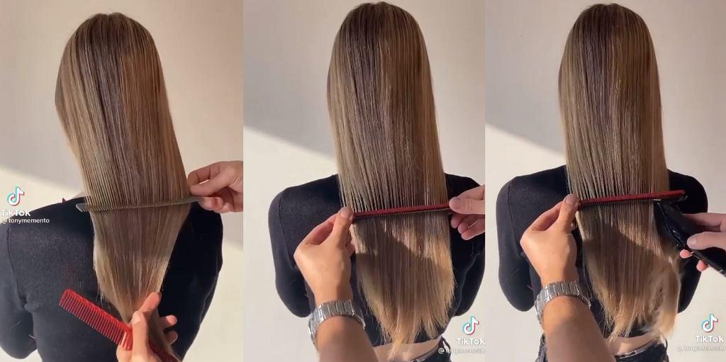 Jak idealnie równo podciąć włosy samodzielnie w domu? Ten prosty trik z TikToka to prawdziwy hit!