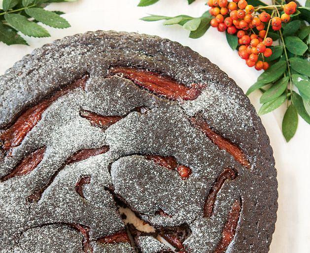 Ciasto czekoladowe z karmelizowaną papryką