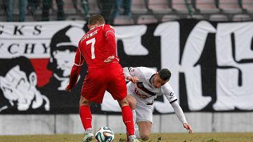 Jaworzno. GKS Tychy - Widzew Łódź 1:0. Tomasz Lisowski i Jakub Bąk