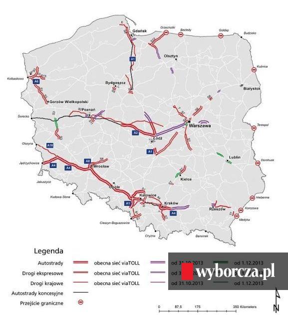 Autostrada Z Lodzi Do Warszawy Bedzie Platna Dla Tir Ow
