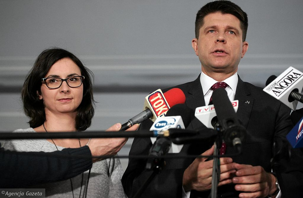 Kamila Gasiuk-Pihowicz i Ryszard Petru (fot. Sławomir Kamiński/AG)