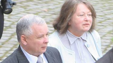 Jarosław Kaczyński i Janina Goss