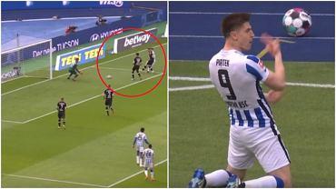 Krzysztof Piątek z golem dla Herthy Berlin w meczu z Freiburgiem