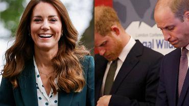 Kate Middleton, książę William i książę Harry