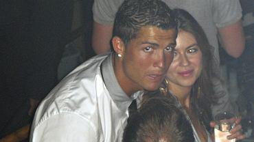 Gwiazda piłki kopanej Cristiano Ronaldo i Kathryn Mayorga w Rain Nightclub. Las Vegas, czerwiec 2009