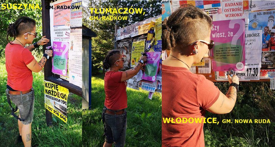 Akcja edukacyjna KOD-u. Plakaty informujące o działaniach PiS pojawiły się w małych miejscowościach