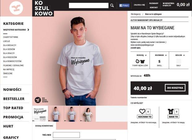 Narodowy Spis Biegaczy. Koszulki o bieganiu na Koszulkowo.com