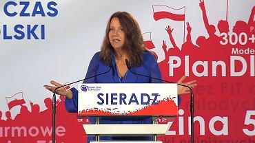 Joanna Lichocka na konwencji w Sieradzu