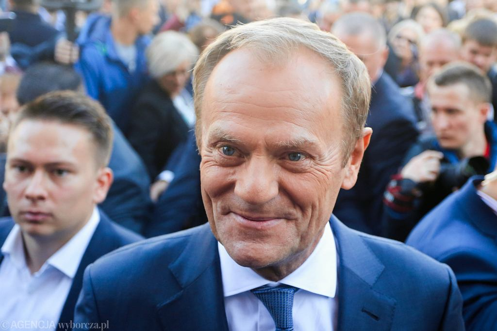 Przewodniczący Rady Europejskiej Donald Tusk w Krakowie, 6 października 2018