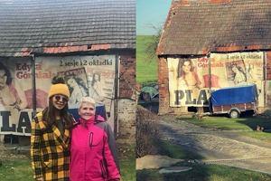 Edyta Górniak pojechała do domu, na którym wisi jej nagie zdjęcie